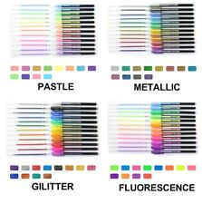 48pcs/set Flash Gel Pen Refill Colorful Shinning Ink for Kids School and Office
