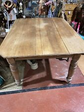 More details for old pine kitchen table with castors victorian