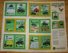 JOHN DEERE TRACTOR COUNTING SOFT BOOK / QUILT PANEL FABRIC ~ NEW ~100% COTTON