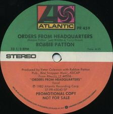 ROBBIE PATTON Orders From Headquarters b/w Smiling Islands (1982 US Promo 12inch