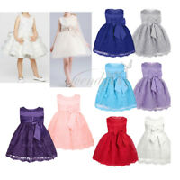 Toddler Infant Baby Flower Girl Floral Tulle Dress Party Bridesmaid Dresses XMAS
