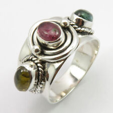 Stone Ring Size 8.25 Fashion Wholesale Solid Sterling Silver Oval Tourmaline 3
