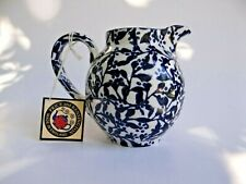 PRICE KENSINGTON Victoriana teapot - blue and white - Made in England Spongeware