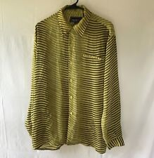 Pronti Collection by Phita — Unisex M Long Sleeve ShirtGreen / Cream stripes