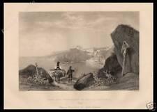 STAMPA ORIGINALE 1860 CALABRIA PROMONTORIO DI SCILLA