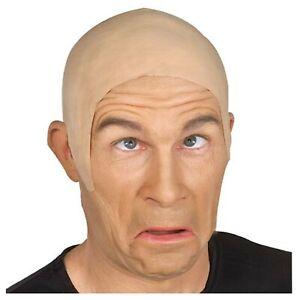 Adult Mens White Chemist Halloween Costume Funny Bald Man Cap Wig Accessory