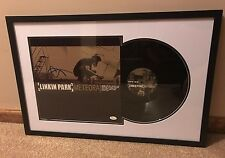 Linkin Park Chester Bennington Signed Meteora Flat with Framed Vinyl JSA