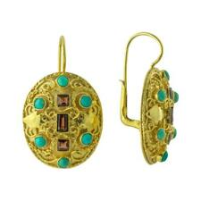 Lady Ashford Turquoise and Garnet Earrings: Museum of Jewelry