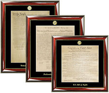 Frame Constitution, Bill of Rights and Declaration of Independence Replica Print