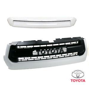 New OEM Toyota TRD PRO Grille & Hood Bulge White Kit for Tundra 2014-2021 - 040