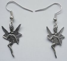 Earrings #2294 Pewter TINY FAIRY (22mm x 14mm)