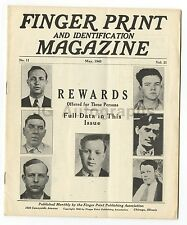 """""""Finger Print and Identification Magazine"""" - No. 11, Vol. 21 - May, 1940"""