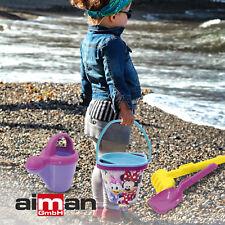 Sandspielzeug Disney Minnie Maus Schnee und Sandeimerset Kinder Sandkasten Neu