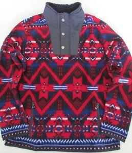 NWT Polo Ralph Lauren Beacon2 Southwest-Print Fleece Jacket Kids Boys M L