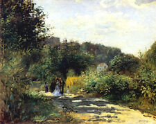A Road in Louveciennes by Pierre-Auguste Renoir Giclee Canvas Print