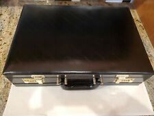 Black Briefcase Hard Vintage Attache with Planner, Notebook & Card/Address Book