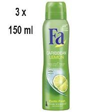 """FA Deospray Women """"Caribbean Lemon"""" - 3er Pack (3 x 150 ml)"""