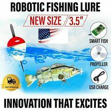 "UFISH 3.5"" New Size Robotic Fishing Lure Electric Bait Swimming Wobbler Bass"