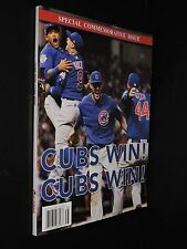 BRAND NEW RYLIND MEDIA SPECIAL COMMEMORATIVE ISSUE CUBS WIN! CUBS WIN!  MAGAZINE