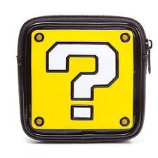 OFFICIAL NINTENDO - SUPER MARIO BROS QUESTION MARK BLOCK SHAPE COIN PURSE (NEW)