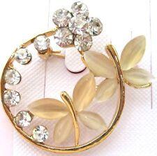 Ladies Romantic Crystal Rhinestone Brooch new