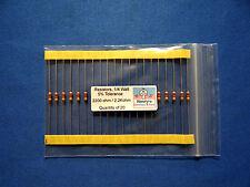 Resistors, carbon film, 1/4 watt, 5%, axial leaded, 2200 Ohm (2.2k)  - QTY of 20