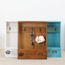 Key Hooks Wood Box Zakka Retro Wall Hanger Wooden Sundries Organizer