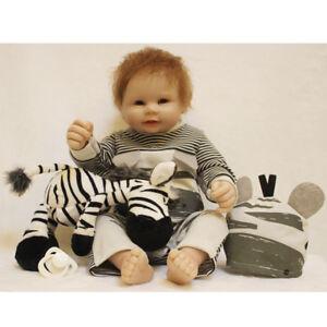"""22""""55cm Handmade Realistic Lifelike Reborn Baby Doll Soft Silicone Boy Girl Bath"""