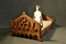 Bed Gothic furniture 12 in Dolls Barbie Fr Poppy Ooak 1/6 Sofa New Diorama New!