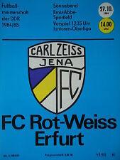 Programm 1984/85 FC Carl Zeiss Jena - RW Erfurt