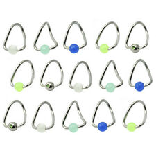 Wholesale 28 Piece Lot of Stainless Steel Twister Captive Rings Assorted Colors