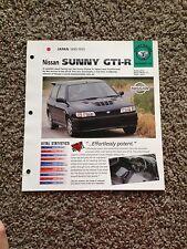 Japan 1990-1995 Nissan Sunny GTI-R Hot Cars SR Group 7 # 46 Spec Sheet Brochure