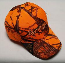 Remington Country Blaze Orange Camo Hat - Mossy Oak Blaze Camo Cap - Brand New