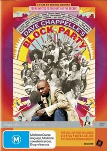 Dave Chappelle's Block Party (DVD, 2006) Music Concert Comedy Movie - Region 4