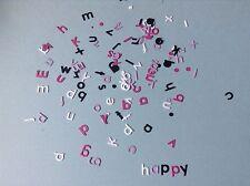 16 sets of Memory box alphabet soup  die cuts - 4 sets of each colour
