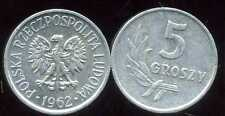 POLOGNE  5  groszy 1962  ( bis )