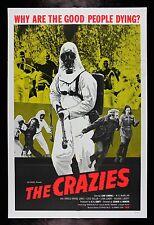 THE CRAZIES * CineMasterpieces ORIGINAL HORROR GAS MASK HAZMAT SUIT MOVIE POSTER