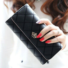 Women Ladies Leather Wallet Long Zip Purse Card Holder Case Phone Clutch Handbag