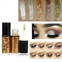 Waterproof Metallic Shiny Eyeshadow Glitter Liquid Eyeliner Makeup Long Lasting