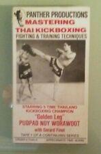 panther gerard finot MASTERING THAI KICKBOXING pudpad noy worawoot VHS VIDEOTAPE