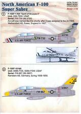 Print Scale Decals 1/72 NORTH AMERICAN F-100 SUPER SABRE Jet  Fighter