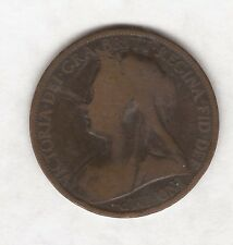 1896 QUEEN VICTORIA ONE PENNY COIN #B