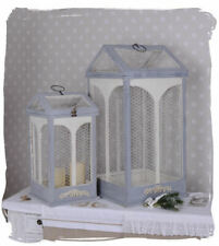 Deco Cage Birdcage Shabby Candlesticks Wire Hood Lantern Aviary Antique