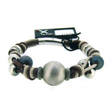 GOOIX Armband 925 Sterlingsilber/Stoffkordel