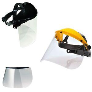 Gesichtsschutz mit Klappvisier Gesichtsschutzschirm Augenschutz Ersatzscheibe