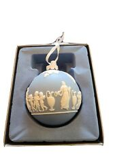 Blue Icon Wedgewood Christmas Ornament Blue Jasperware Angels