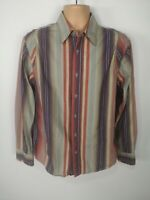 MENS FAT FACE STRIPED COTTON CASUAL LONG SLEEVED SHIRT TOP BUTTON UP SMALL S