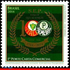 14-19 BRAZIL 2014 - CENTENARY PALMEIRAS, FOOTBALL/SOCCER , FAMOUS CLUBS, MNH
