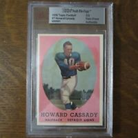 1958 Topps Vault File Copy HOWARD HOPALONG CASSADY 7 Card BVG HEISMAN COA Rare