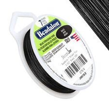 "Beadalon 7 Strand Jewellery Wire 0.012"" (0.30mm) Dia. Black 30ft (D75/4)"